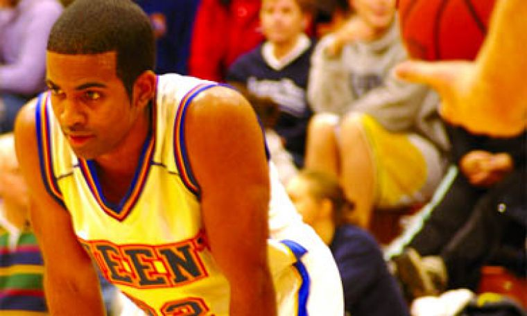 Gael Jonathan Daniels takes a breather during Friday's game versus Laurentian.