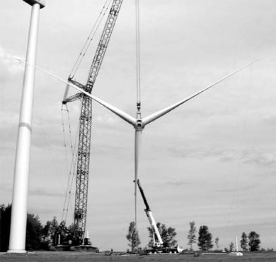 Some Wolfe Island residents said they think the installation and maintenance of wind turbines—like the Melancthon 1 wind turbine project pictured here—would harm the island's natural beauty and rare bird species. But Mayor Jim Vanden Hoek said the majority of his constituents support the project, slated to begin operation in 2007.