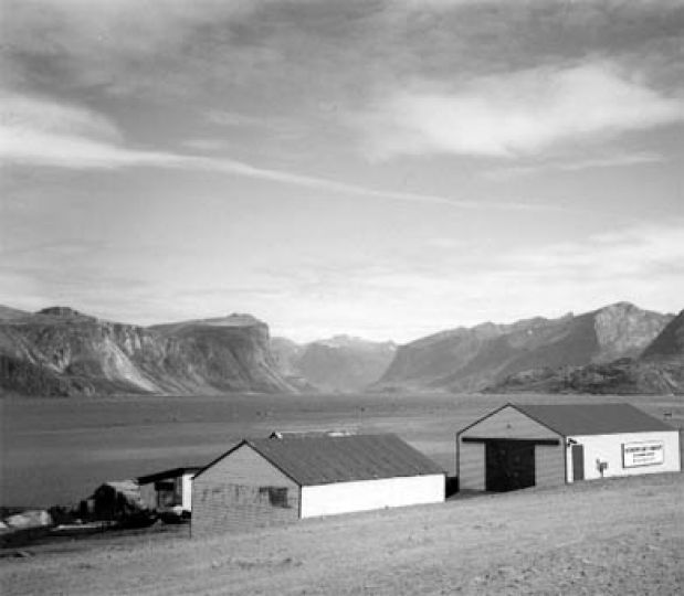 The view from the tiny hamlet of Pangnirtung.