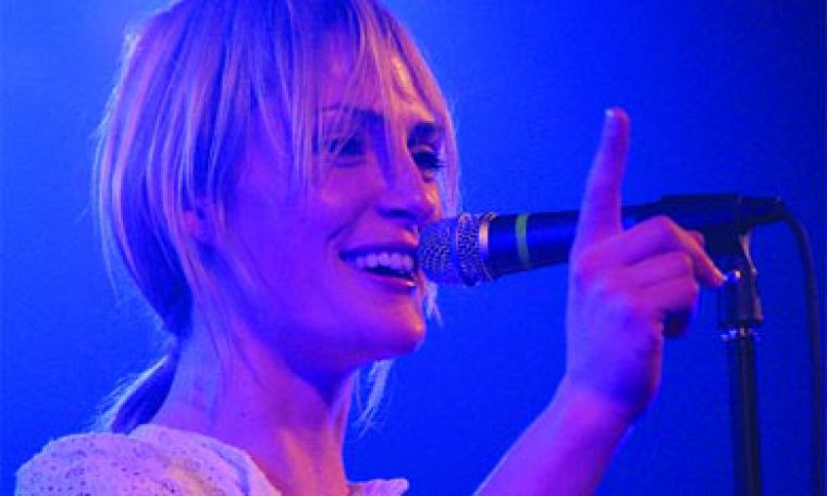 """Metric lead singer Emily Haines """"lives it out"""" at Grant Hall Tuesday night."""