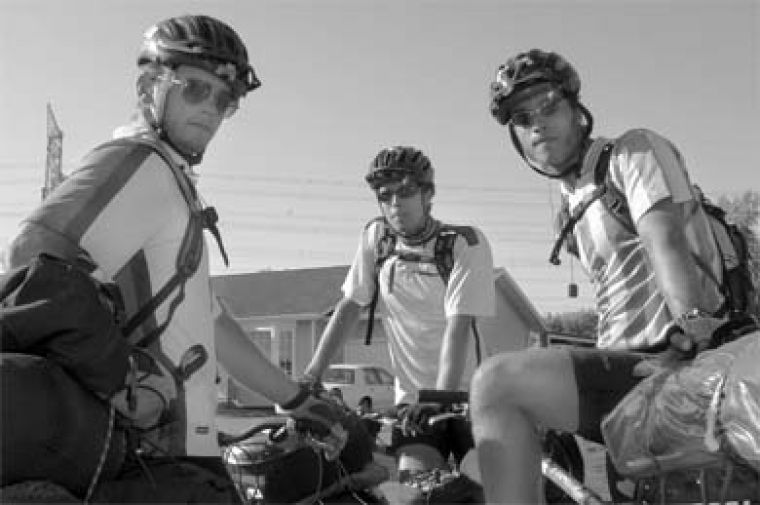 Students Mike Maggrah, Erik Zufelt and Ryan Zufelt are biking across the country to raise money for Cancer research.