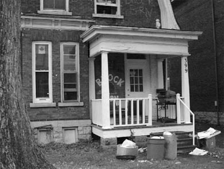 A drop in the market value of Ghetto houses, such as the one pictured above, may save students' money on rent.