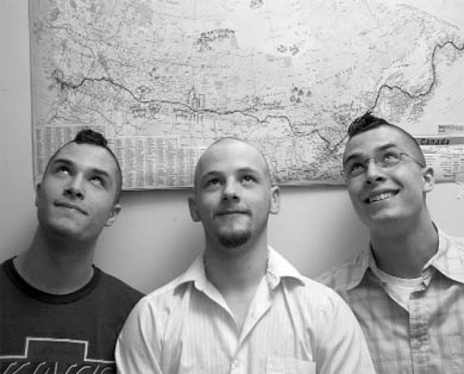 Last week they gave up their hair for Cuts for Cancer. Now Mike Maggrah, Erik Zufelt and Ryan Zufelt, all ArtSci '07, will be cycling across Canada to raise money for cancer research.