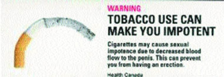 In graphic form, Health Canada warns about the effects of smoking. Pictured above are 3 of 16 new warning labels.