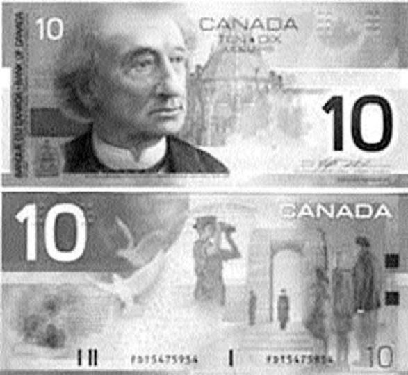 The new bills feature texture patches designed by Dr. Susan Lederman which are designed to assist visually-impaired Canadians.