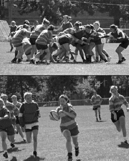 Lady Gaels rugby — from winless to .500 in three seasons.