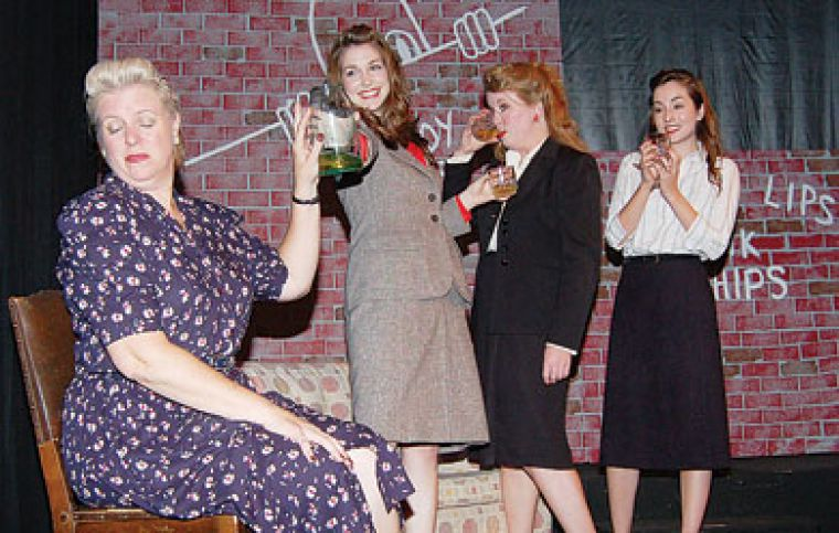 Maragaret, Catherine, Marta and Eve (left to right) are four women navigating the difficulty of finding their place during the Second World War in John Murrel's play, Waiting for the Parade.
