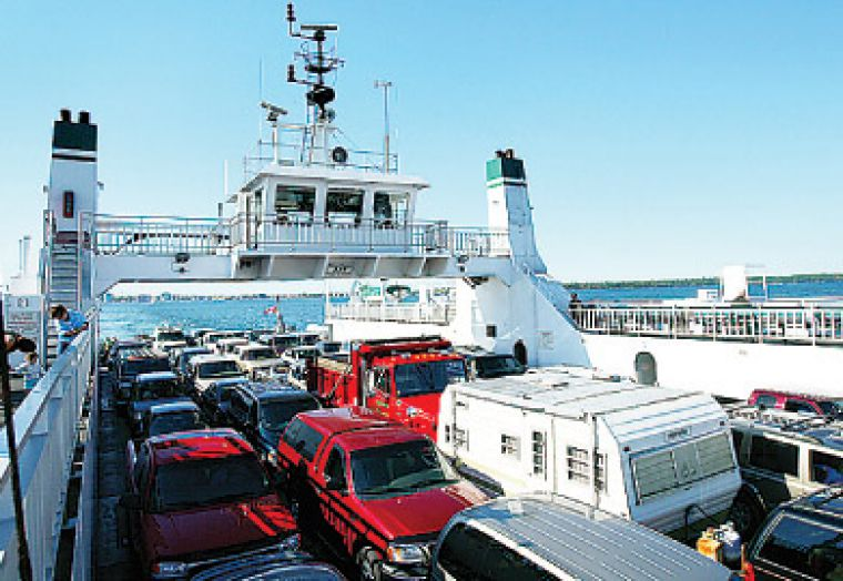 The Wolfe Islander III takes passengers from Kingston to Wolfe Island and back for free.