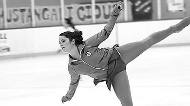 The figure skating team practicing last year. They were ranked 14th by the review, which proposed keeping 10 to 16 teams.