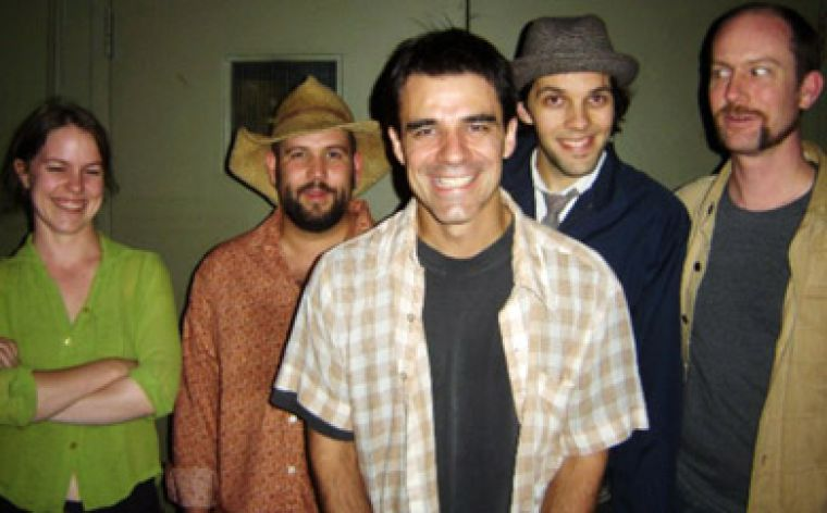 The Violet Archers include Ida Nilson of the West Coast pop-rock outfit Great Aunt Ida (far left) and former Rheostatics bassist Tim Vesley (centre).