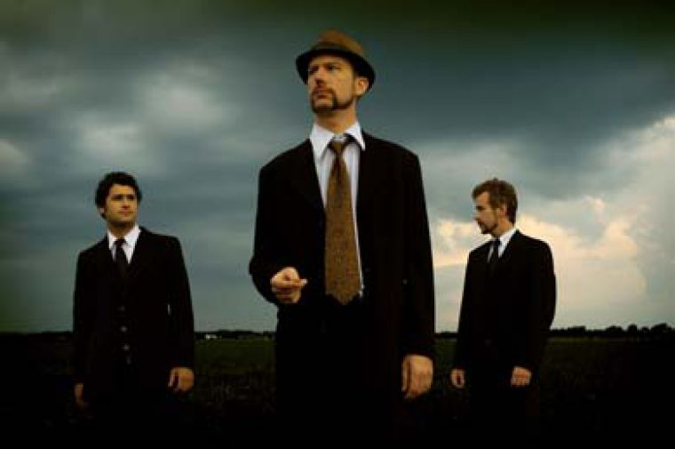 Elliott Brood is Mark Sasso, Stephen Pitkin and Casey Laforet (left to right).