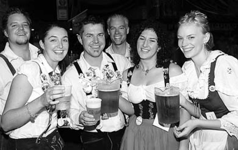Oktoberfest's licensed Festhallen are a big party site for Waterloo students.