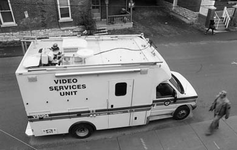 Kingston police will use surveillance cameras and extra lighting on Aberdeen Street as they did during Homecoming 2006.