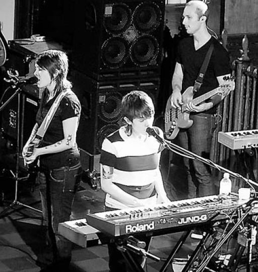 Singing sisters Tegan and Sara performed selections from their latest album The Con last night at Sydenham United Church.