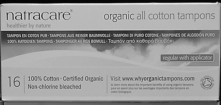 The Earth Centre sells fully organic feminine hygiene products made by Natracare.