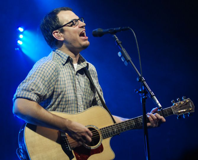 Matthew Good plays an acoustic set at Stages last night.