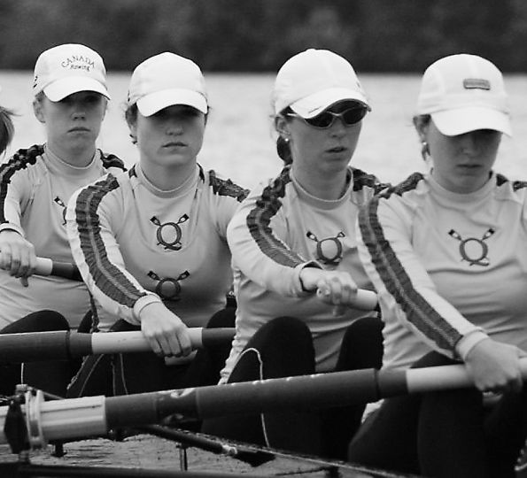 The women's rowing team, seen here competing in last weekend's OUA championships, won for the fourth time in five years.