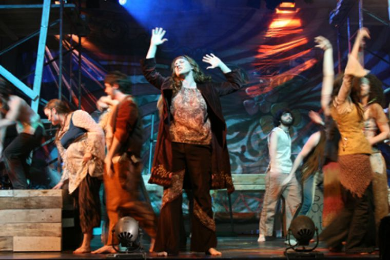 Merritt Crews lets her emotions get the best of her in Queen's Musical Theatre's production of Hair.