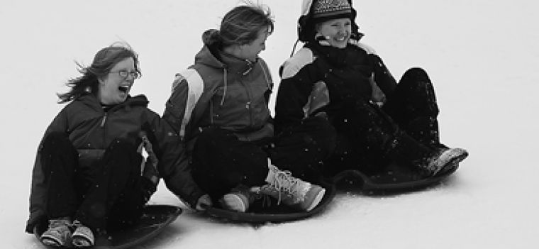 More than 50 children and 80 student volunteers participated in the WAG, which included tobogganing on Summerhill.