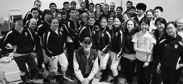 The Queen's fencing team poses with their medals last weekend at the OUA East Qualifiers at Carleton University.