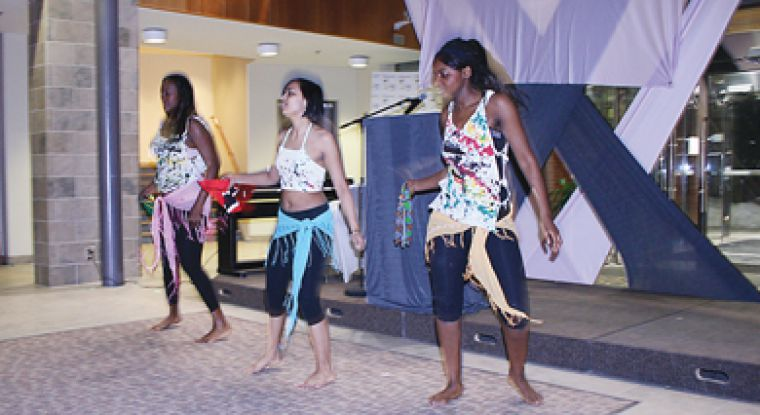 Carribean dance group Lime Neva Done performed at the Golden Tam Awards on Friday, March 14.