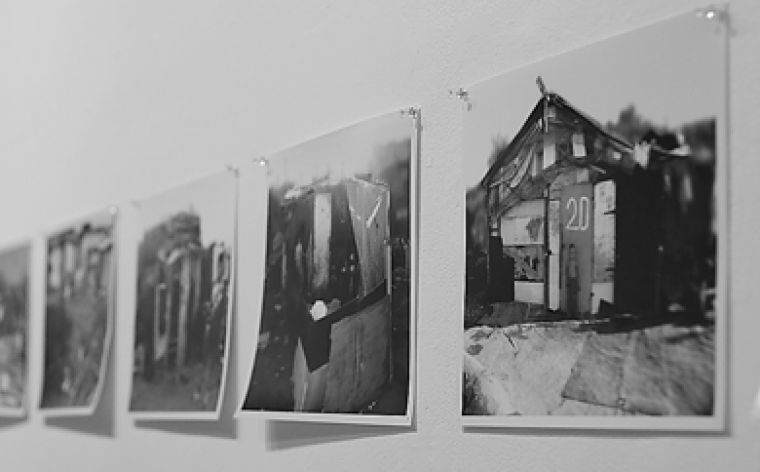 The exhibit's photos are a vivid and compelling aspect of the show that provide a glimpse into the world of Belgrade refugees.