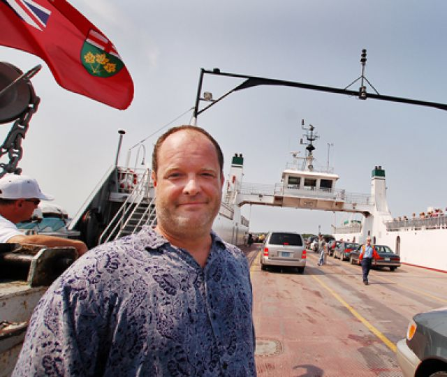 The Wolfe Island Music Festival is made possible by organizes and residents of the island such as Scott Carter.