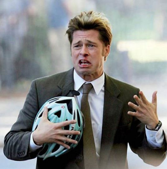 Brad Pitt adopts a new coif for the Coen Brothers' comedy Burn After Reading