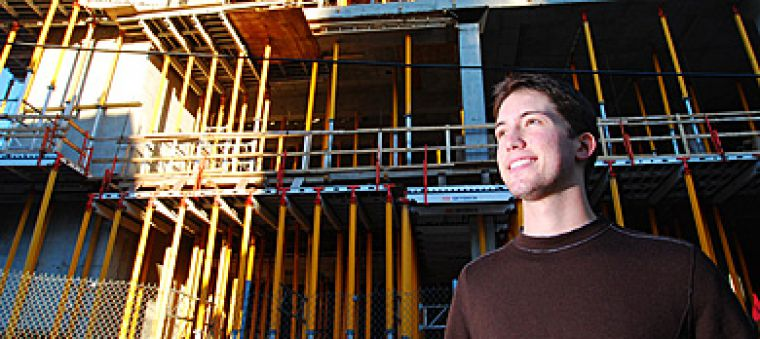 Student Trustee Michael Ceci, ArtSci '09, says every dollar spent on the Queen's Centre must be earned back.