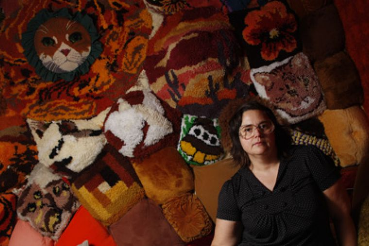 Crafter, filmmaker, artist and activist Allyson Mitchell was chosen by students to exhibit two eye-popping installations in The Union Gallery.