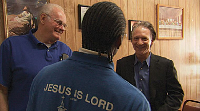 Bill Maher at the Truckers Chapel in Raleigh, North Carolina.