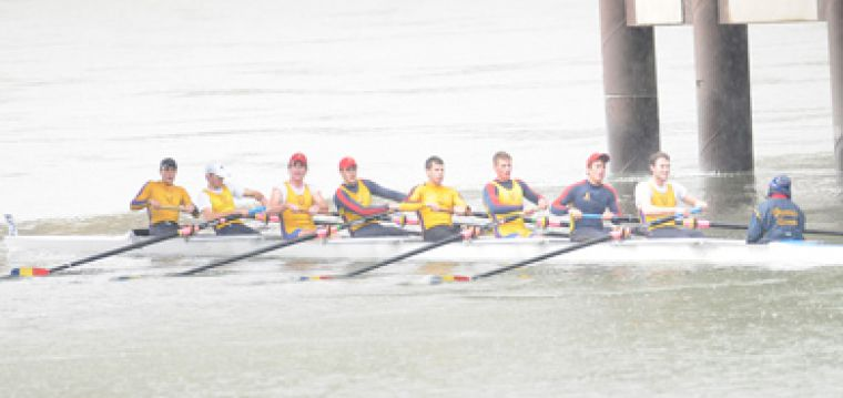 Queen's men's eight rowing team competes at the national championships in Fort Langley, B.C. last weekend.