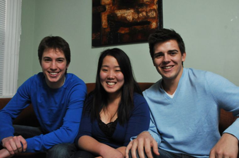 Presidential candidate Michael Ceci, vice-president (operations) candidate Leslie Yun and vice-president (university affairs) candidate Adam Zabrodski knew each other for two years before deciding to run together for AMS executive.