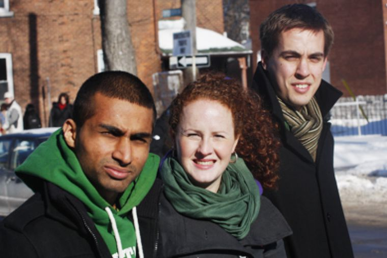 Vice-president (university affairs) candidate Suhail Panjwani, vice-president (operations) candidate Ellen Allwright and presidential candidate Colin McLeod want to get grassroots support from students and hear as many opinions as possible.