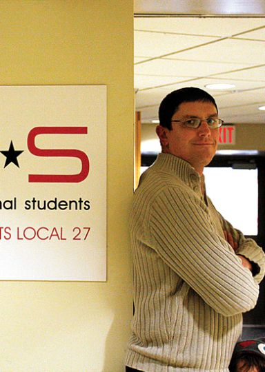 SGPS President Jeff Welsh says a proposed reduced fee for education students will be brought to the SGPS' annual meeting in March.