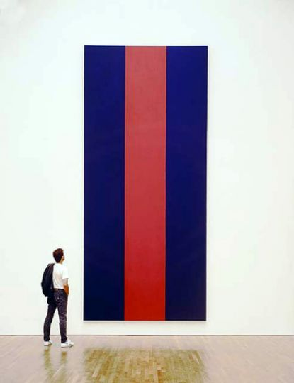 Barnett Newman's Voice of Fire sold for $1.76 million.