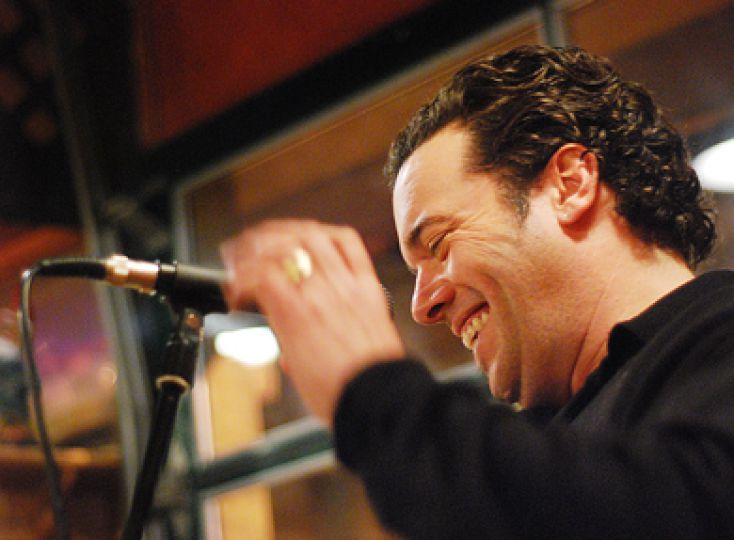 2008 Giller Prize winner Joseph Boyden performs at the Sleepless Goat Friday. Refer to the Features section for the full story.