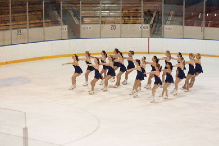 The figure skating team practices at the Memorial Centre Feb. 17 in preparation for last weekend's OUA championships.