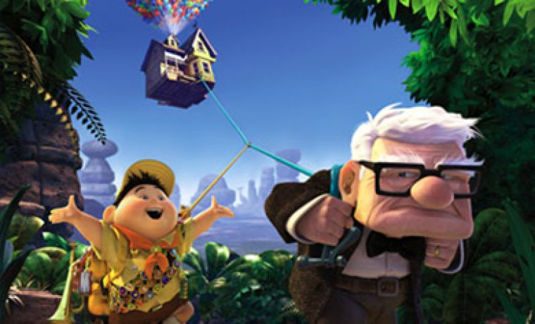 Russell and Carl find bunches of adventure in Disney Pixar's Up.
