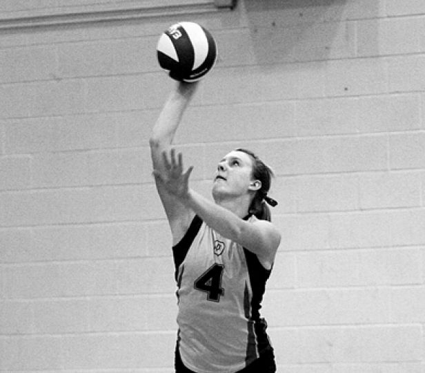 Outside hitter Lorna Button is one of four Gaels' volleyball women chosen for the Ontario provincial team.