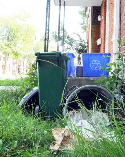 Under the proposed public nuisance bylaw, people could be fined for knocking over garbage cans and trampling on flowers.