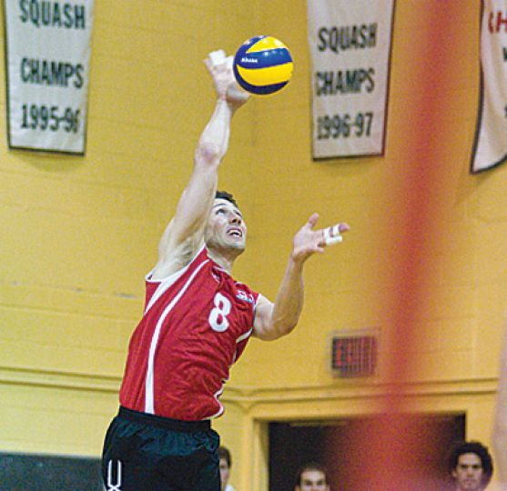 Former Gael Adam Simac visited his alma mater along with the Canadian men's volleyball team to play Australia last week.