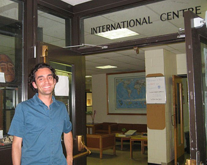 Justin Kerr, international student advisor at the Queen's University International Centre, advises students to get involved with activities that will enrich their university experience and ease their transitions to Queen's life.