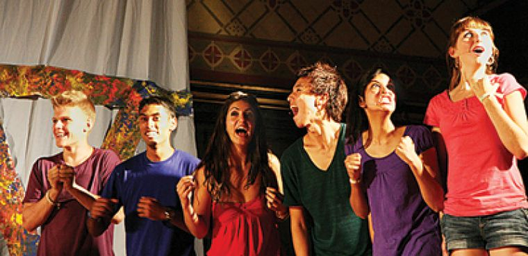 All in this together: The Existere cast relive thier first year memories on stage.