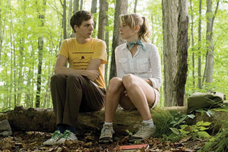 Michael Cera with Portia Doubleday in his latest angsty flick Youth in Revolt