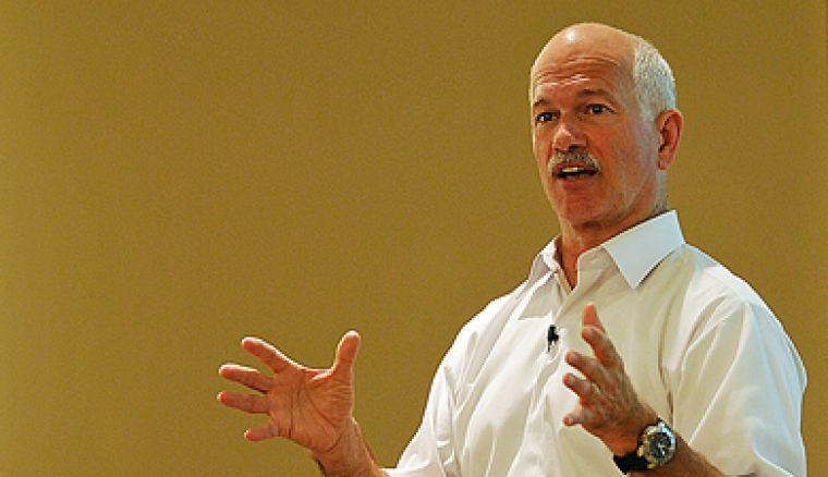 NDP leader Jack Layton gives a talk in Ellis Auditorium to a roomful of students, faculty and community members.