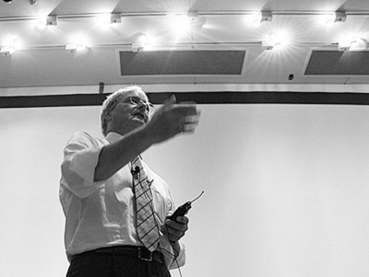 Marc Garneau, Liberal Member of Parliament for Westmount—Ville-Marie and the first Canadian in space, spoke in Biosciences Complex on Monday night.