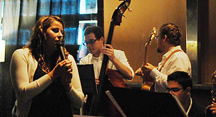 King Street Jazz Band grace the stage every Monday night at Alfie's.