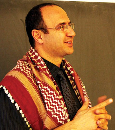 Saed Abu-Hijleh, geography professor from the West Bank, says he thinks education isn't a privilege but a right.