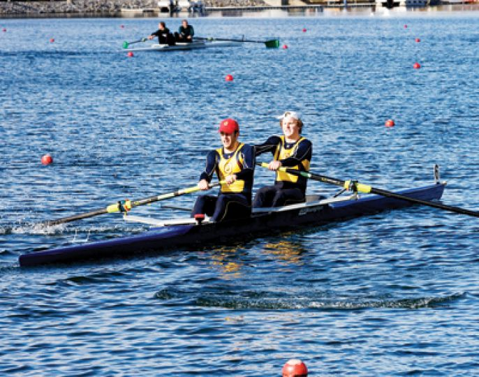 The Queen's men's pair, composed of Scott Brandon (left) and captain Andrew Joyce, finished fifth in Sunday's race in Montreal.